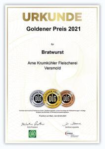 URKUNDE Bratwurst 2021